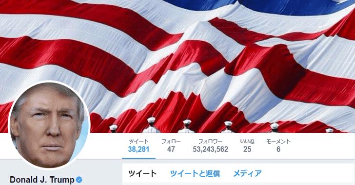 トランプ大統領のツイッター